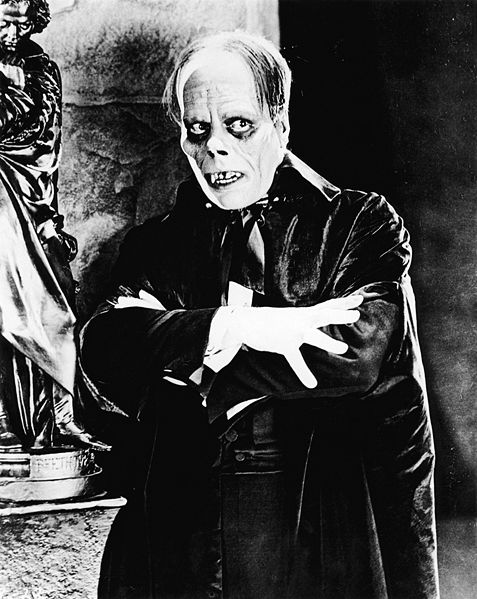 Figure 1 - Lon Chaney, Sr. from The Phantom of the Opera, 1925. Image from the Wikicommons and in the public domain.