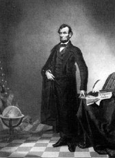 Figure 1 - Portrait of Abraham Lincoln, 1860 - or is it.  From the Wikicommons and in the public domain.