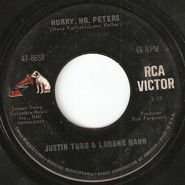 Figure 2 - The RCA Victor record label not copywritten and in the public domain.