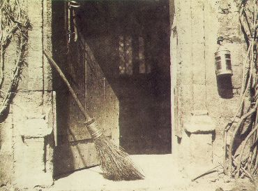"""Figure 1 Henry Fox Talbot """"The Open Door"""" from his """"Pencil of Nature, 1844.  From the Wikicommons and in the public domain because of expired copyright."""