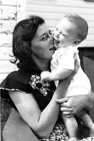 "Figure 1 - ""With my mother, 1951"" (c) copyright DEWolf 2013."