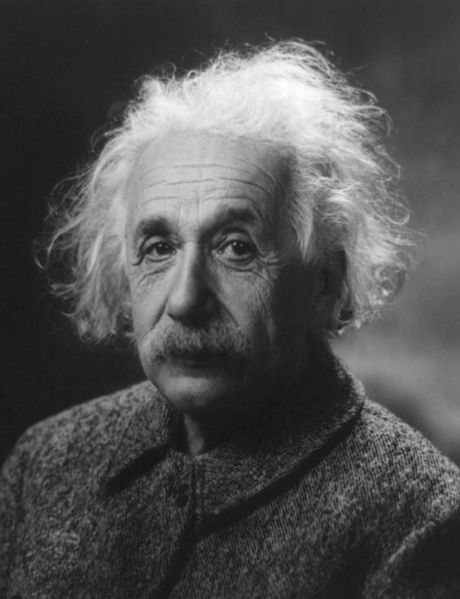 Figure 1 - Albert Einstein, 1947, From the Wikicomons and in the public domain because copyright not renewed. Photograph by Oren Jack Turner, Princeton, N.J. - Modified with Photoshop by en:User:PM_Poon and later by User:Dantadd.