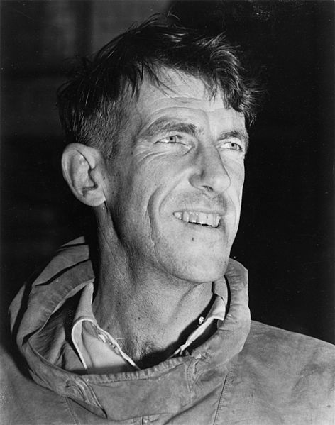 Figure 1 - Sir Edmund Hillary, 1953. From the Wikimediacommons Pascoe, John Dobree, 1908-1972. Edmund Percival Hillary. Ref: 1/2-020196-F. Alexander Turnbull Library, Wellington, New Zealand. http://beta.natlib.govt.nz/records/22676310