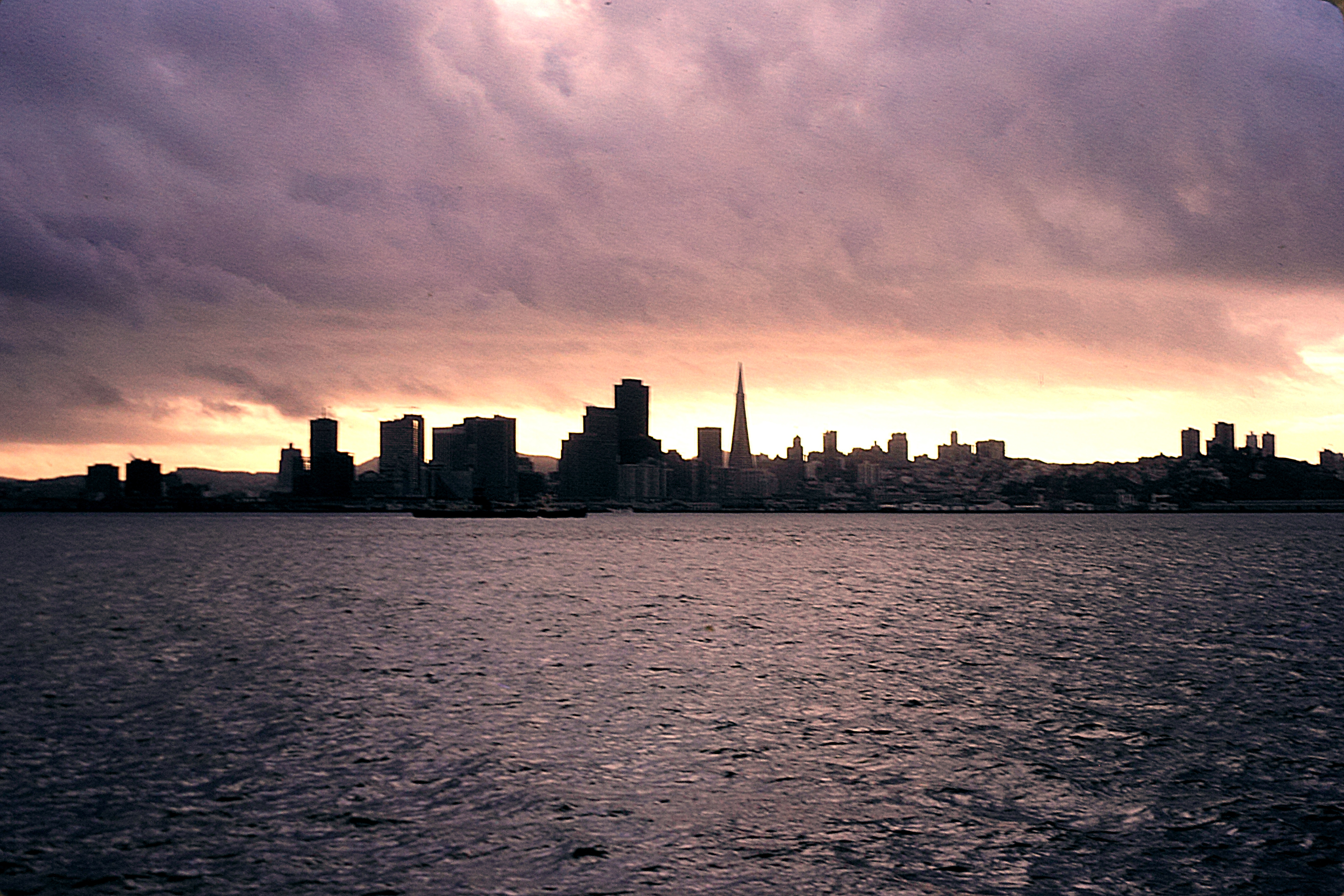 """Figure 3 - """"San Francisco from the Sausilito Ferry, 1975,"""" Digitized 35 mm Kodachrome Transparency."""" (c) DE Wolf 2013."""