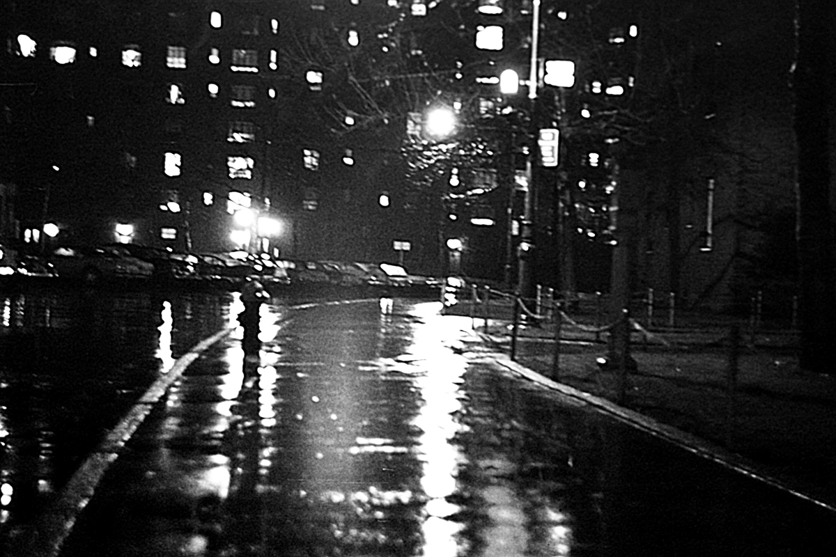 "Figure 3 - Night scene of NYC in the rain, c 1970,"" (c) DE Wolf 2013."