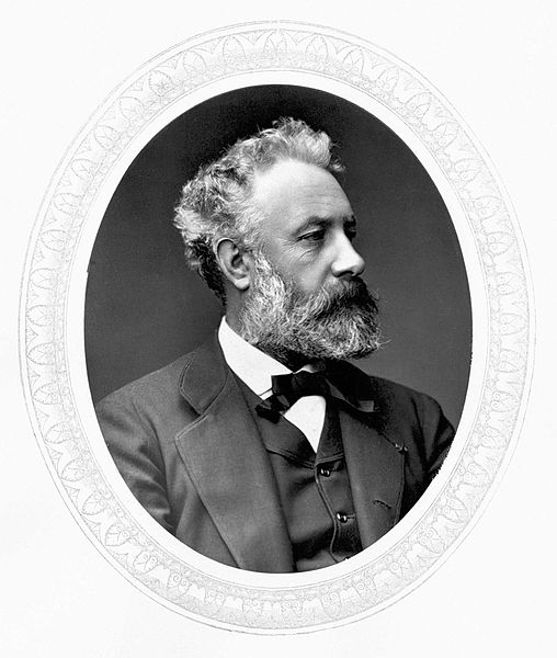 "Figure 1 - The great French science fiction author Jules Verne.  Image from the Wikimediacommons and in the public domain in the United States. Original photograph from  from the the 1876–1883 ""Men of Mark"" series by the photographers Lock & Whitfield"