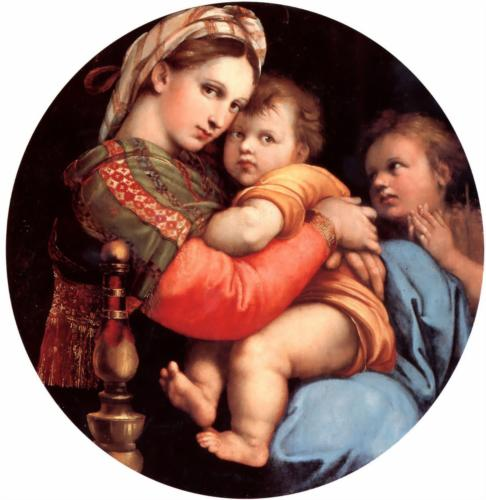 Figure 1 - Raphael's Madonna of the Chair, 1515 - the ultimate meme.  From Wikipaintings and in the public domain.