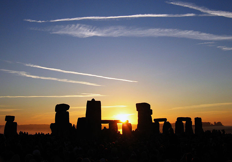 Figure 1 - The mythic tradition, Stonehenge at sunrise on the summer solstice 2005, from the Wikimedia Commons and in the public domain.