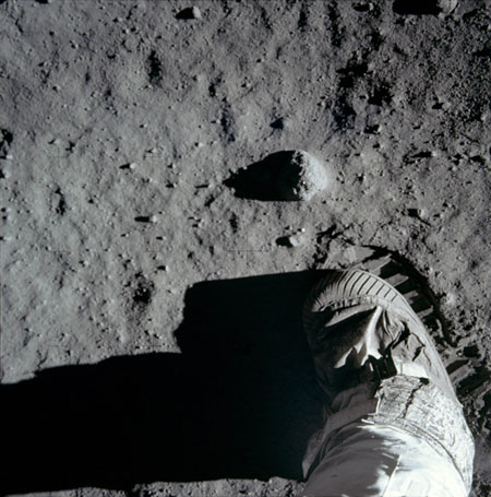 Figure 1 - First footstep on the moon, NASA photograph in the public domain.