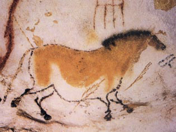 Figure 1 - Painting of a horse from the great cave at Lascoux. From the Wikimedia Commons and in the public domain.