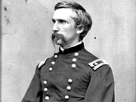 Figure 3 - Contemporary image of oshua Chamberlain, who won the Congressional Medal of Honor for his defense of the Little Round Top, from the LOC and in the public domain.