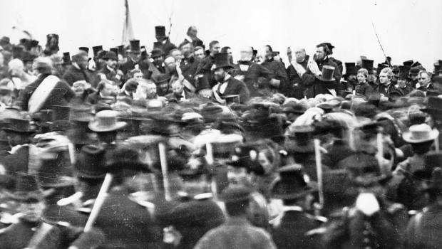 Figure 4 - Lincoln at Gettysburg, November 19, 1863, from the LOC and in the public domain.
