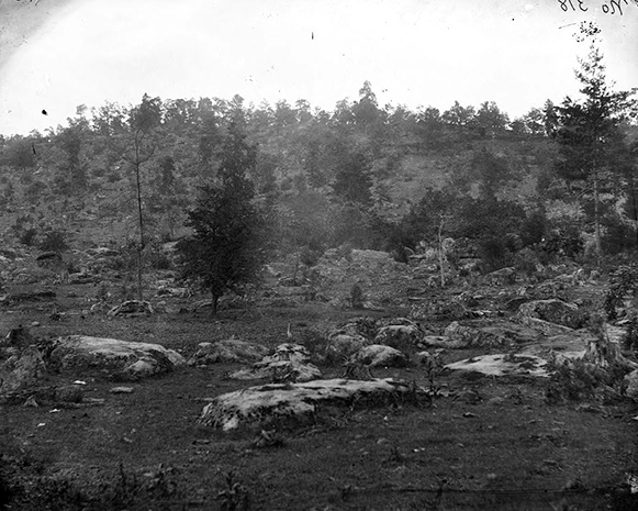 Figure 2 - The Little Round Top, July 1863, image from the LOC and in the public domain.