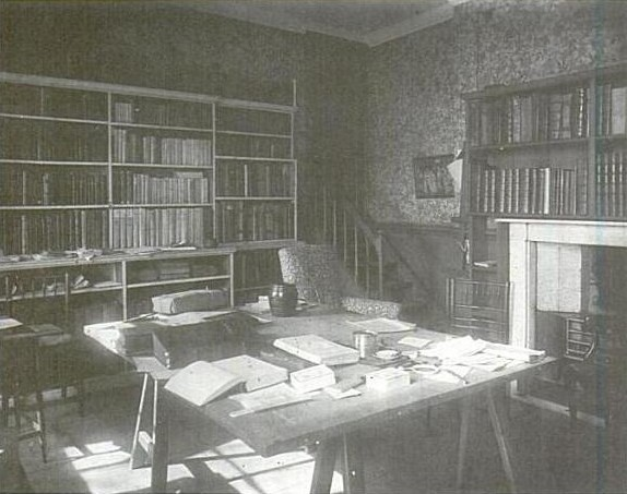 "Figure 1 - Arguably the ultimate limited edition publisher, a work room in William Morris' Kelmscot House, where such great works as the ""Kelmscott Chaucer"" were produced..  From the Wikimediacommons and in the public domain."