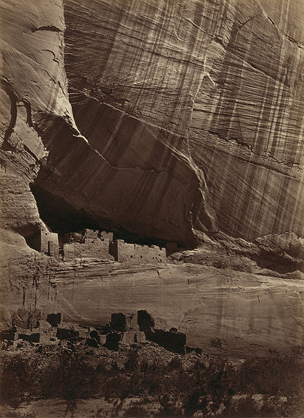 Figure 1 - Timothy H. O'Sullivan, Anasazi Ruins, 1873, from the Wikimedia Commons and the LOC in the public domain.