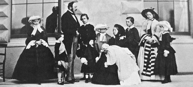 Figure 2 - Photograph of the royal family in 1857. From the Wikicommons and the Royal Archives UK, in the public domain.