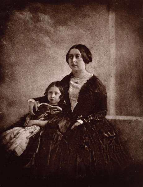 Figure 1 - Calotype of Queen Victoria with the princess royal c1844-45. The earliest known photograph of Victoria.  Image from the Wikimedia Commons from the Royal Archives UK and in the public domain.