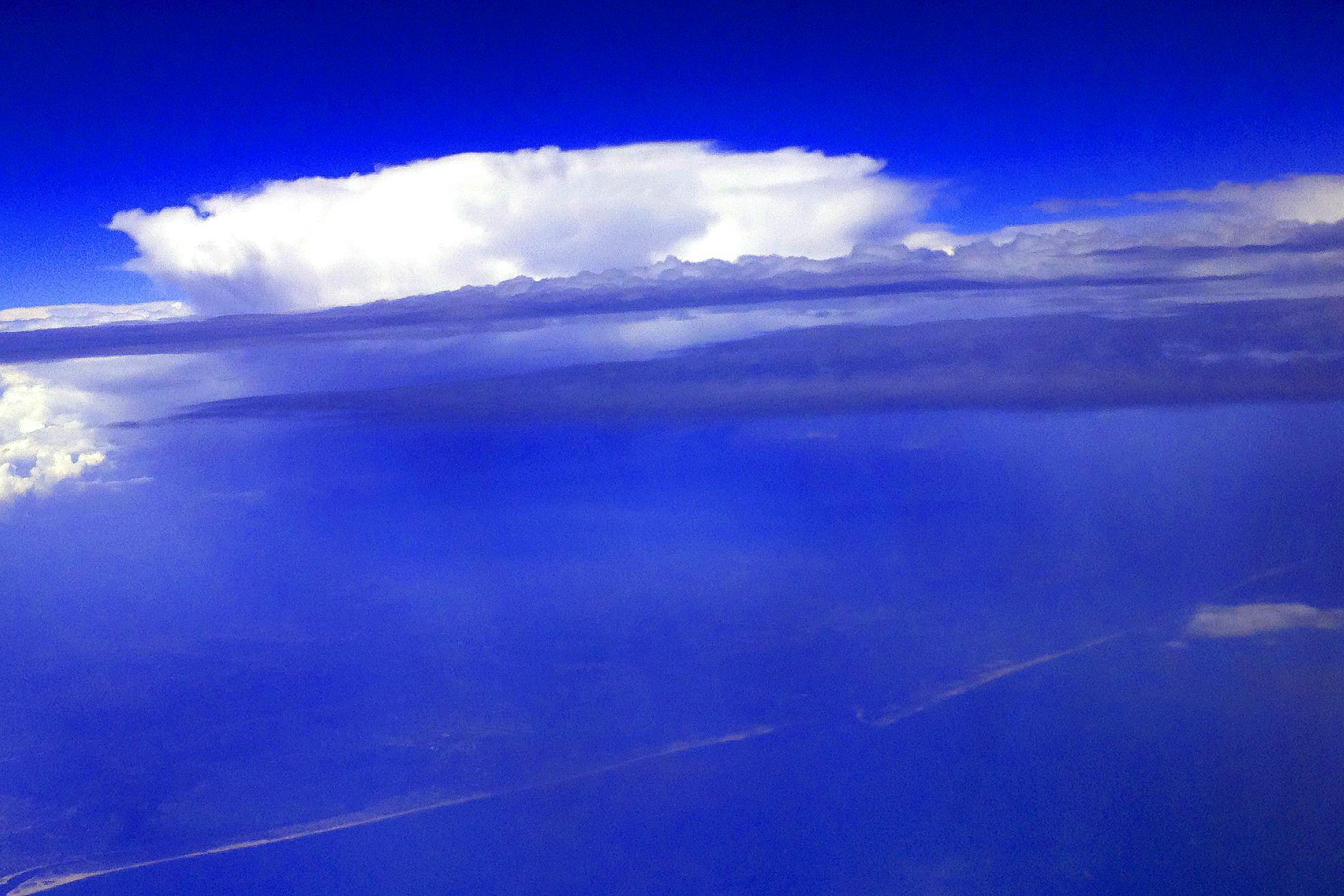Figure 1 - Storms over the New Jersey shore, IPhone photograph,(c) DE Wolf