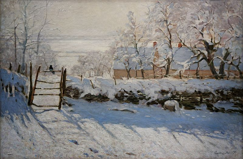 "Figure 1 - Claude Monet, ""The Magpie,"" from the Wikimedia Commons.  Original in the MUsee D'Orsay and in the public domain in the United States."