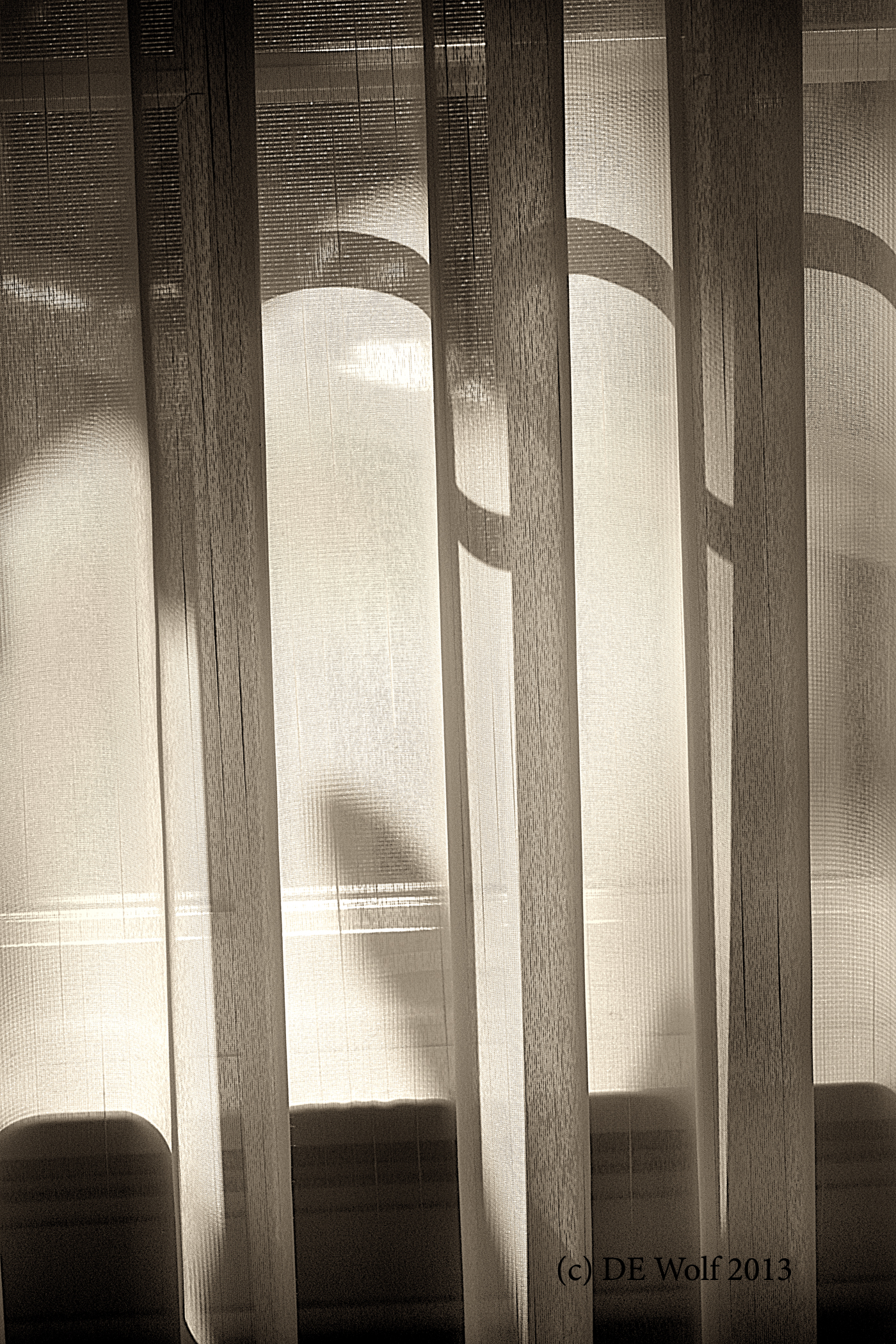 Figure 1 - Morning light diffused through sheer curtains, (c) DE Wolf 2013.