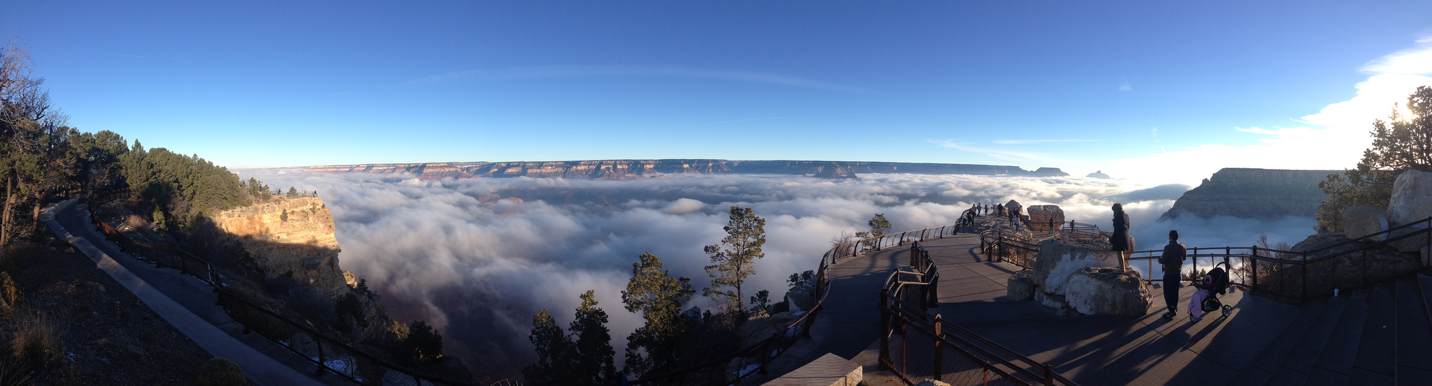 Figure 1 - The Grand Canyon filled with fog on November 29, 2013 by Erin Whitaker via the US NPS and in the public domain.