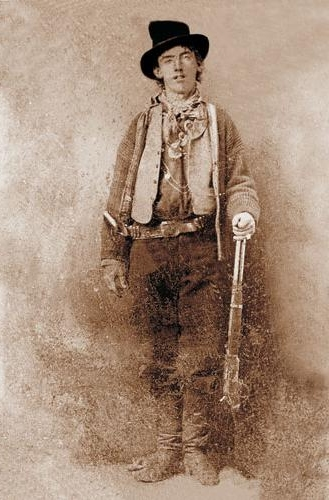 Figure 1 - 1880 ferrotytpe by an unknown artist, portrait of Billy the Kid.  From the wikimedia commons and in the public domain.