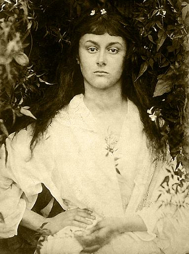 Figure 1 - Alice Liddell as Pomona the Roman Goddess of dardens and fruit.  Image (1872) by Julia Margaret Cameron from the Wikimedia Commons and in the public domain.