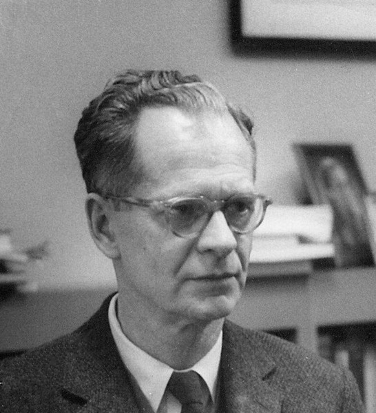 Figure 1 - B. F. Skinner c 1950 from the Wikipedia, original work by Silly rabbit and in the public domain under GNU Free Documentation License,