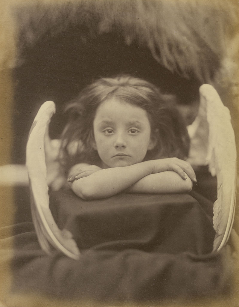 """Figure 1 - """"I wait"""" by Julia Margaret Cameron  Wait. The model was Rachel Gurney. From the Wikipedia Commons and the Getty Museum.  In the public domain because it is more than a hundred years old."""