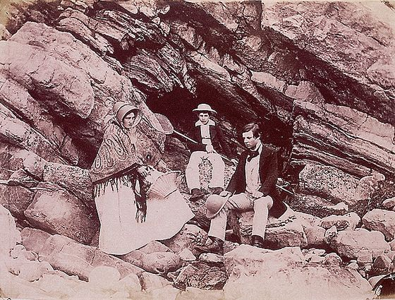 Figure 1 - John Dillwyn Llewelyn, Theresa, John, and Willie at Caswell, 1853, from the Wikimedia Copmmons and in the public domain.