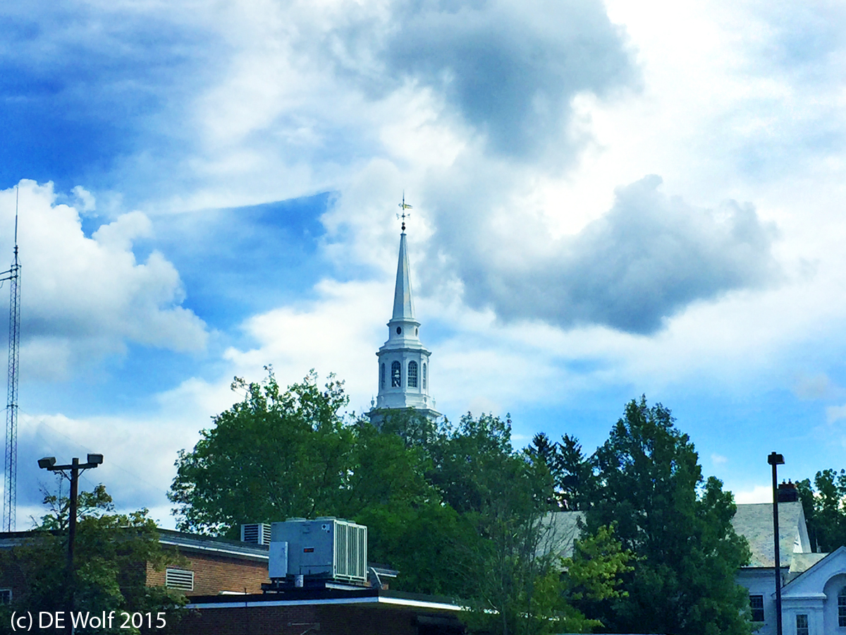 Cumulus clouds over Concord, Massachusetts, September 12, 2015. IPhone 6.0 photograph. (c) DE Wolf 2015.