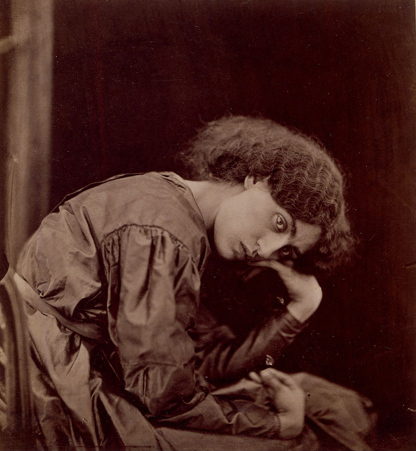 Figure 1 - John Robert Parson, Jane Burden Morris, 1868, posed by Dante Gabrielli Rossetti. From the Wikipedia and in the public domain in the United States because of its age.