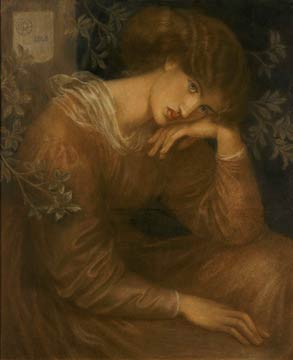 "Figure 1 - Dante Gabriel Rossetti, colored chalk drawing, ""Reverie,1868."" in the public domain in the United States because of its age."