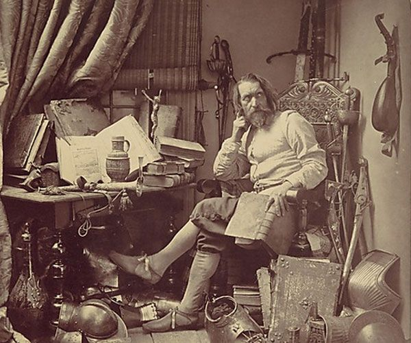 Figure 1 - Don Quixote in his Study, 1857, by Julia Margaret Cameron and in the public domain in the United States because of its age.