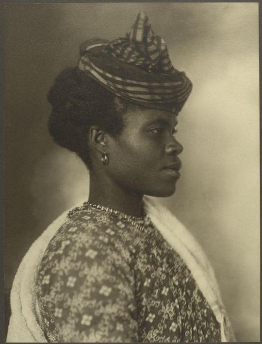 Figure 1 - Augustu Sherman Guadeloupean woman. In the public domain in the United States.