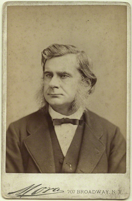 Figure 1 Thomas H. Huxleyby Jose Maria Mora, albumen print, 1876 cabinet card, in the National Portrait Gallery London and in the public domain in the United States by virtue of its age.