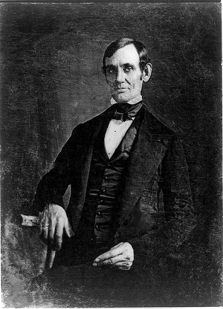 Figure 1 - Daguereotype portrait of then Congressman Abraham Lincoln in 1846. From the US LOC via the Wikipedia nad in the public domain in the United States.