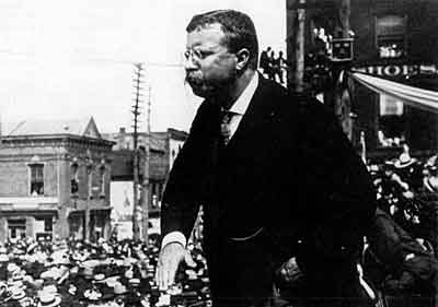 Figure 1 - Theodore Roosevelt campaigning from the US LOC and in the public domain because of its age.