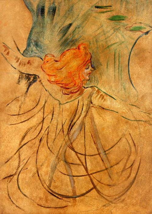 Figure 1 - Painting of Loie Fuller by Henri de Toulouse-Lautrec. From the Wikipedia and in the public domain in the United States because of its age.