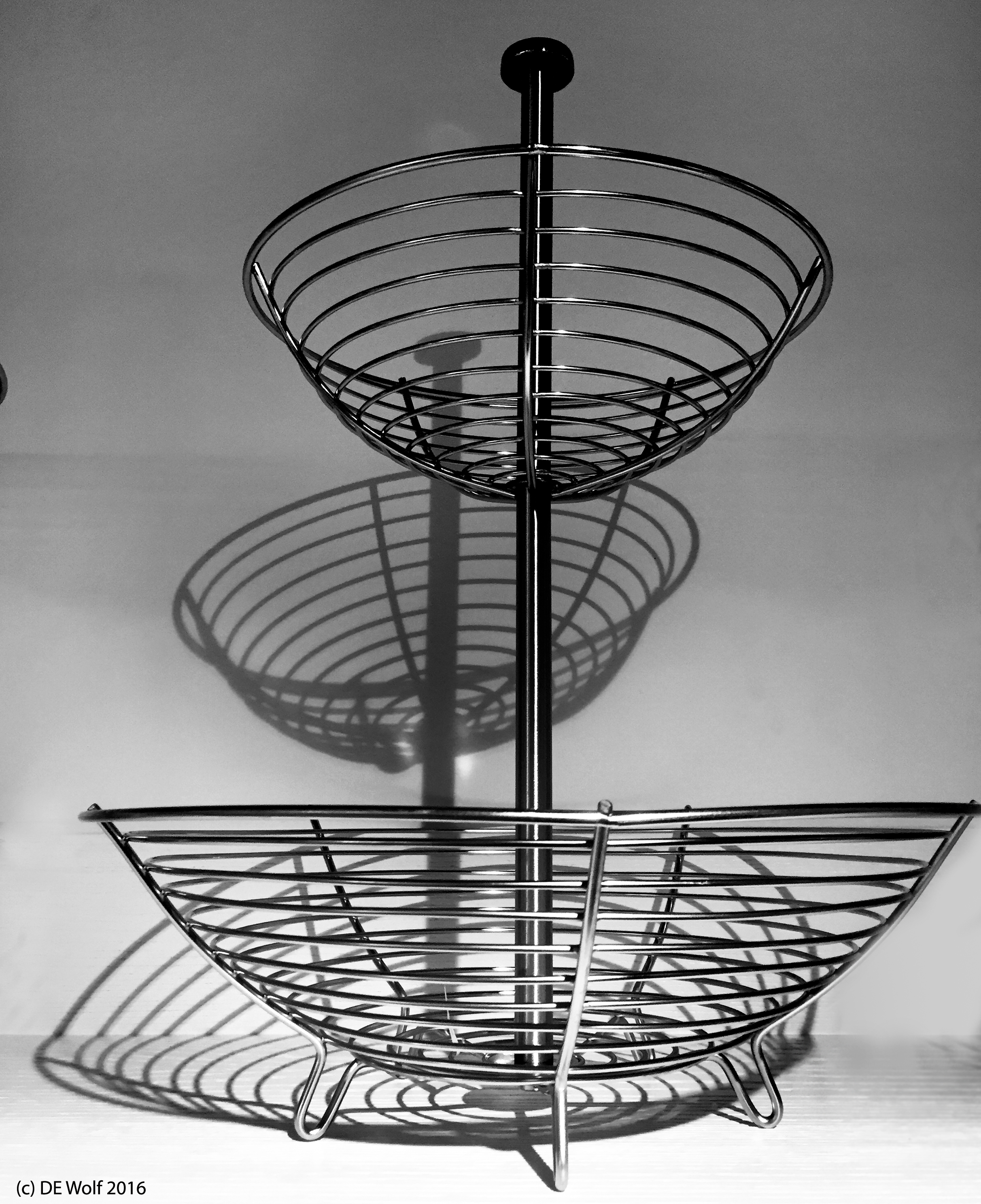 Figure 1 - The stainless steel basket, (c) DE Wolf 2016.