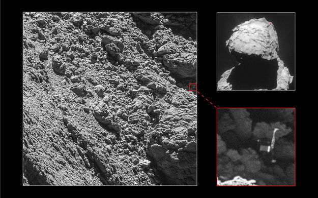 Figure 1 - Philae found. credit European Space Agency 2016.