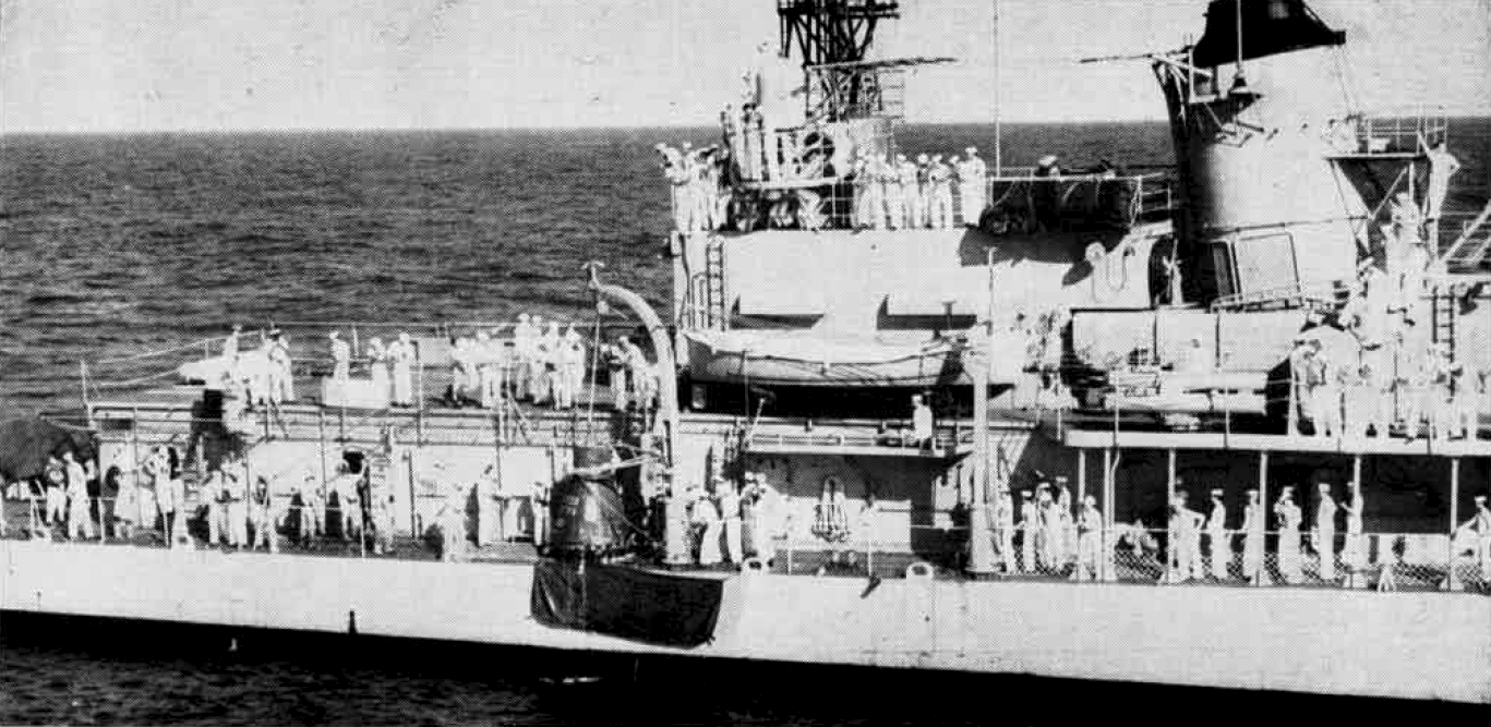 Figure 1 - US Navy Destroyer USS Noa hoisting John Glenn in his capsule Friendship 7 onto the deck, February 20, 1962. This file is a work of a sailor or employee of the U.S. Navy, taken or made as part of that person's official duties. As a work of the U.S. federal government, the image is in the public domain in the United States.